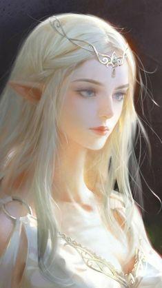 Chica Fantasy, Elves Fantasy, Anime Fantasy, Fantasy Girl, Art Anime, Anime Art Girl, Fantasy Character Design, Character Art, Fantasy Kunst