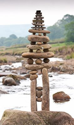 wrongseason:    Karma Stones by escher (spring is here) on Flickr.  Stone stacking absolutely amazes me.