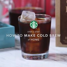 We've made it easier than ever to make your own cold brew coffee at home. Starbucks® Cold Brew Coffee Pitcher Packs come pre-ground and measured. So all you have to do is drop the sealed bags in a pitcher of water and 24 hours later you'll have bold, super smooth cold brew.