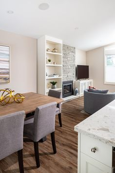 Interior renovation by Madeleine Design Group based out of Vancouver, BC *Re-pin to your own inspiration board* Inspiration Boards, Vancouver, Dining Bench, This Is Us, Group, Living Room, Interior Design, Table, Furniture