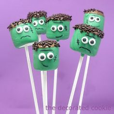 HALLOWEEN: Frankenstein marshmallows (and a little bit about Mary Shelley) | The Decorated Cookie