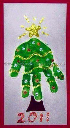 Handprint Christmas Tree Crafts Footprint Art Ideas For 2019 Kids Crafts, Preschool Crafts, Tree Crafts, Decor Crafts, Handprint Christmas Tree, Preschool Christmas, Toddler Christmas, Christmas Ornament, Christmas Projects