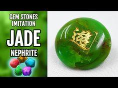 DIY Polymer Clay Realistic Natural Jade Gemstone. Gemstone imitation technique. VIDEO Tutorial! - YouTube