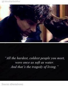 Sherlock was born with his gift, but he used to use it for fun and be sweet about it, but then kids began to call him a freak and he pulled inside himself. Sherlock Holmes Quotes, Sherlock Fandom, Sherlock Moriarty, Watson Sherlock, Sherlock John, Fandoms, Movie Quotes, Life Quotes, Life Memes