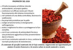 Bacche di goji Le bacche di goji fanno molto bene alla salute e hanno molte proprietà.