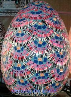 - Lámpara de cristal Bali multicolor - Decoración Árabe
