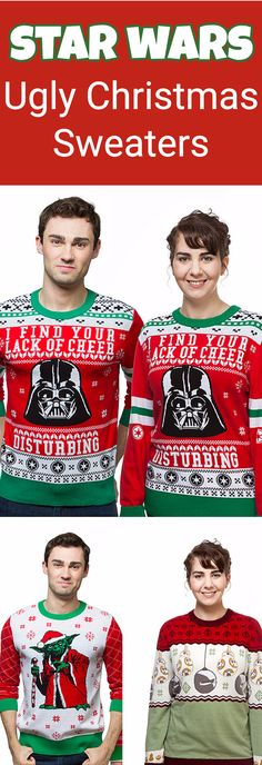 star wars ugly christmas sweaters are the perfect outfits for any ugly christmas sweater party