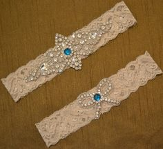 Rhinestone Wedding Garter Set Elegant Bridal by SpecialTouchBridal, $32.99