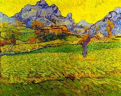 Belle Époque Europe VINCENT VAN GOGH: A Meadow in the Mountains (1889) —