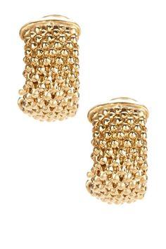 Mesh Huggie Earrings by Savvy Cie on @HauteLook