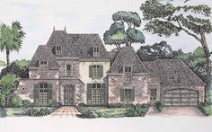 Eplans Chateau House Plan - Envy Of Every Neighborhood - 4191 Square Feet and 4 Bedrooms(s) from Eplans - House Plan Code HWEPL01366