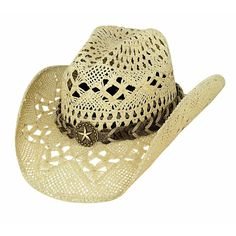 23b2179f09fc6 Bullhide Naughty Girl Straw Cowboy Western Hat - This Bullhide Hat boasts a  Pinchfront Crown and a 3 Brim. It has a Braided Hatband with a Western Star  ...