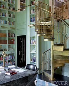 Loving the staircase in this Kelley Wearstler design.