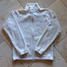 Women'S Columbia Zip Up Jacket White