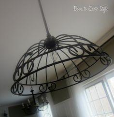 Hanging baskets turned pendant light!