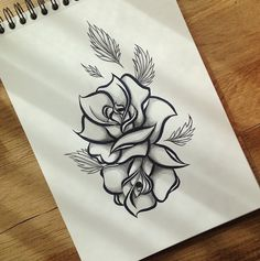 rose tattoo - love it - inked - rose - dotwork