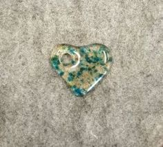 M027 Fused Glass Heart