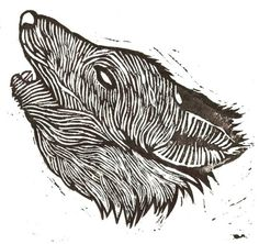 Lino print I did of a wolf's head, part of another project (more info to come). It was my first stab at linocut, really enjoyed the process.