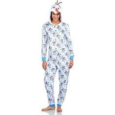 Disney Frozen Olaf Women's One Piece Pajamas (Sizes S-2X), Size: Small, White