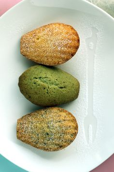 Madeleines Trois Parfums | Orange, Matcha Green Tea, and Earl Grey Madeleine Recipes