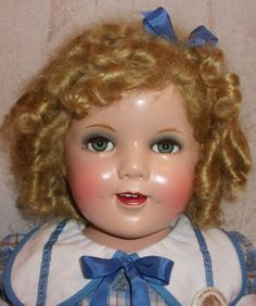 "27"" Shirley Temple Doll Ideal Doll Co 1930's Era Make Up Version Flirty Eyes 