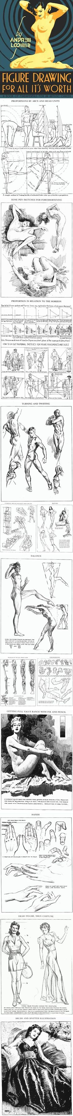 Lines and Colors: a blog about drawing, painting, illustration, comics, concept art and other visual arts » Figure Drawing for All it's Worth, Andrew Loomis