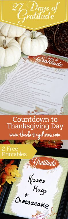 Perfect! I can use this as a countdown to Thanksgiving with fun ideas to show my husband how grateful I am for him every single day. www.TheDatingDivas.com