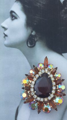 Glamorous Vintage Juliana D&E Topaz AB Aurora by VintageGoodsToGo