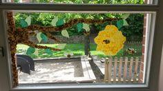 Fensterdeko Bienen Sommer