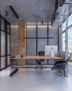 Industrial office studio #professionalofficedesigns #industrialofficedesigns