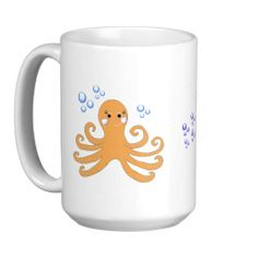 Cartoon Octopus Coffee Mug #mugs #octopus