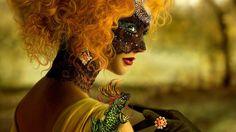 ♥.beautiful mask.♥ de cheveux blonds Wallpaper