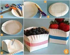 Berry Basket Made From Paper Plate