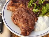 Steaks and Stilton Sauce Recipe : Barefoot Contessa (I'd probably use gorgonzola but same idea applies)