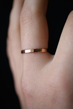 Rose Gold Stack ring, One Single Rose Gold stacking ring, stackable ring, thick gold ring, hammered rose gold ring, rose gold band by hannahnaomi on Etsy https://www.etsy.com/listing/228892568/rose-gold-stack-ring-one-single-rose