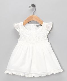 Take a look at this Ivory Lace Dress - Infant & Toddler by Petit Confection on #zulily today!