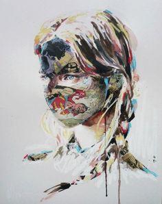 Mixed media artist, Sandra Chevrier