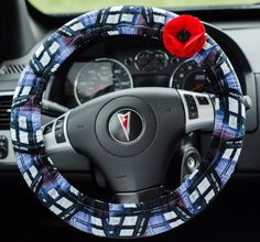 Made from Doctor Who TARDIS Blue Fabric  Padded Steering Wheel Cover Car Decor Cute Car Accessories by FireflyCreations42 on Etsy https://www.etsy.com/listing/235517431/made-from-doctor-who-tardis-blue-fabric