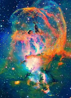 NGC 3576 (also known as The Statue of Liberty Nebula and ESO is a bright emission nebula about 100 light-years across, located some 9000 light-years away in the Sagittarius arm of our Milky Way in the constellation Carina.