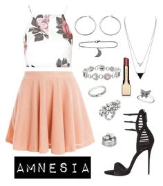 """Amnesia - Lucy"" by cabelodealga ❤ liked on Polyvore featuring Giuseppe Zanotti, Paul & Joe Sister, Topshop, GUESS, ADORNIA, Pandora, Mews London, Forever 21, House of Harlow 1960 and Clarins"