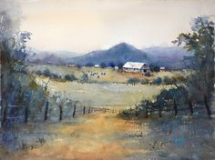 The Love of Farming by Judy Mudd Watercolor ~ 12 x 16