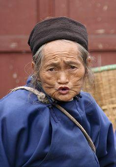 China Anshun - portrait old Naxi woman by jadis1958, via Flickr