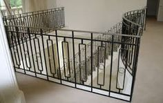 Image result for metal stair railing