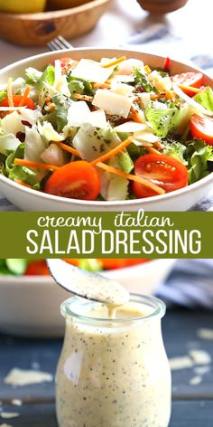 This Classic Creamy Italian Salad Dressing recipe is one for the books! Its packed with delicious herbs and makes the perfect addition to any garden salad! And its SO easy to make! Creamy Italian Salad Dressing Recipe, Italian Dressing Recipes, Pasta Salad Italian, Salad Dressing Recipes, Dressing For Greek Salad, Pasta Salad Dressings, Salad Dressing For Diabetics, Homemade Salad Dressings, Barbecue Sauce