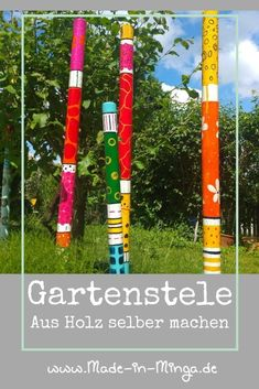 Garden, Outdoor Decor, How To Make, Inspiration, Home Decor, Colouring In, Diy Wall Art, Diy Gifts, Painted Sticks