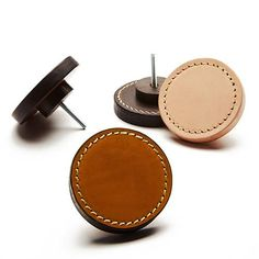 Using a traditional technique of stacking and bonding leather to form multiple layers, these beautifully crafted handles are suitable for joinery door or dra. Leather Accessories, Home Decor Accessories, Finger Pull, Joinery Details, Drawer Handles, Copper Handles, Door Handles, Leather Workshop, Furniture Handles