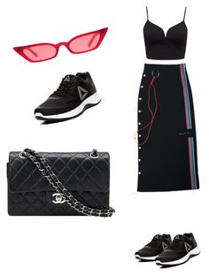 """Untitled #177"" by alura-luna ❤ liked on Polyvore featuring Reebok and Chanel"