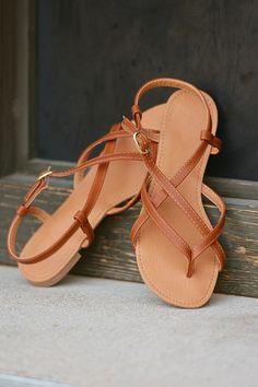 f91805ba7233 The Essential Sandal - Cognac Shoe Room