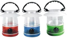 3 pack mini lanterns- red, blue, and green. Case of 8