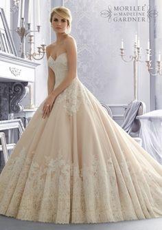 Idee abiti da sposa colorati 2015 - Mori Lee
